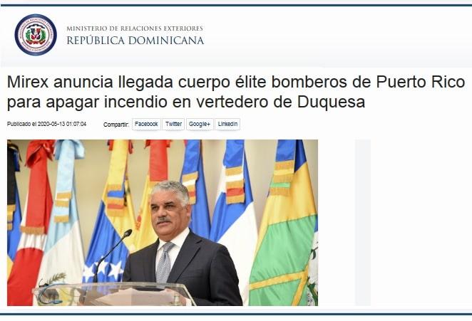Puerto Rico ayudará a combatir el fuego en Duquesa